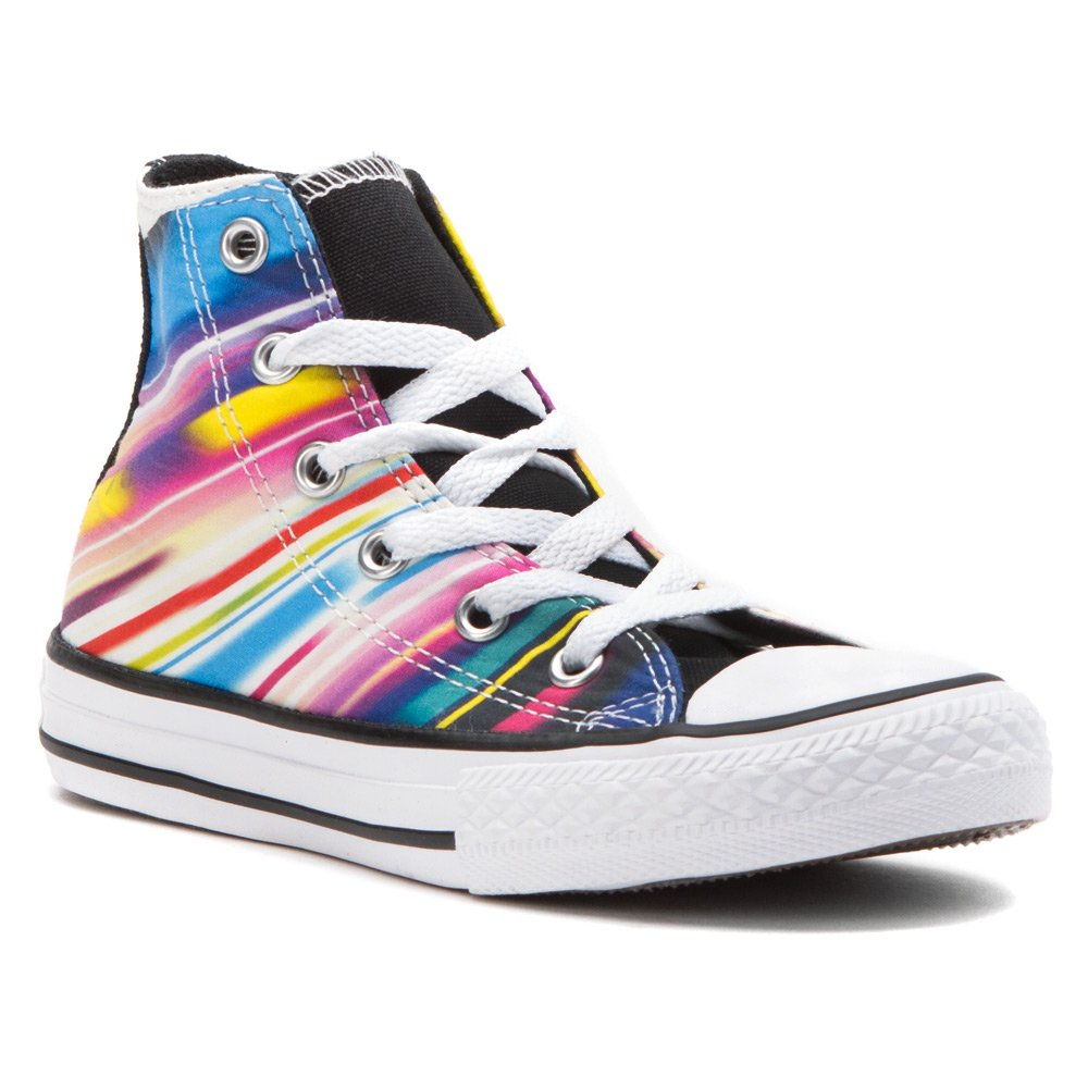 Converse Kids Sneakers Chuck Taylor All Star Hi Black Aurora Yellow ( Little Kid /Big Kid) Imported