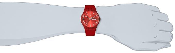 Rebel Suor701 Red Analog Quarz Swatch Herren Armbanduhr dQhrCts
