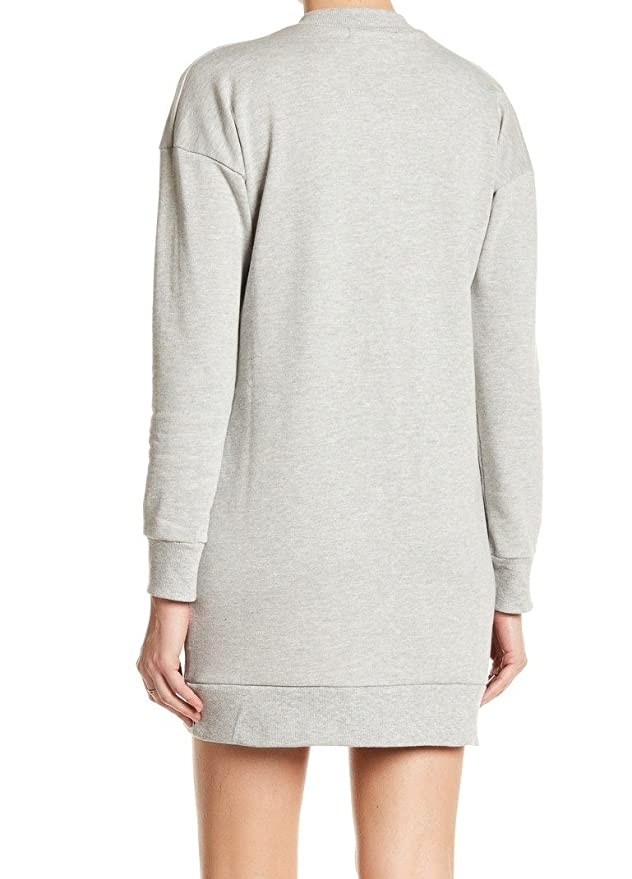 400bcba362 Romeo   Juliet Couture Women s Grommet Tie Up Sweatshirt Heather Grey  Medium  Amazon.ca  Clothing   Accessories