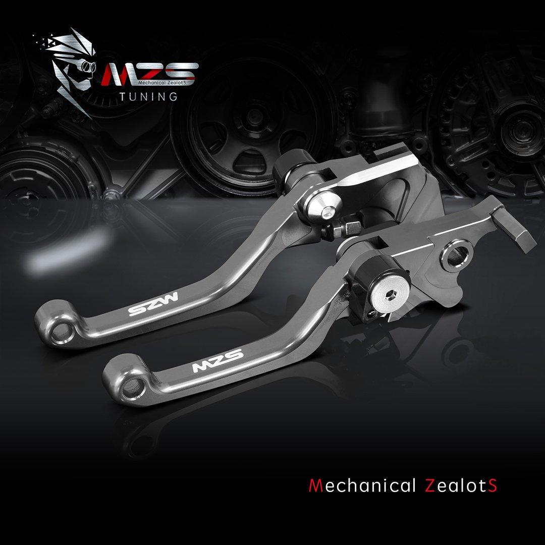 Yamaha Brake Clutch CNC Pivot Levers Red MZS Pivot Levers Brake Clutch CNC for Yamaha YZ125 YZ250 YZ426F YZ450F 2001-2007// YZ250F 2001-2006