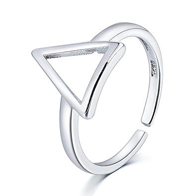 amazon gnzoe foot jewelry toe ring adjustable beach jewelry Composite Beam gnzoe foot jewelry toe ring adjustable beach jewelry hollow triangle silver plated original diameter 18mm