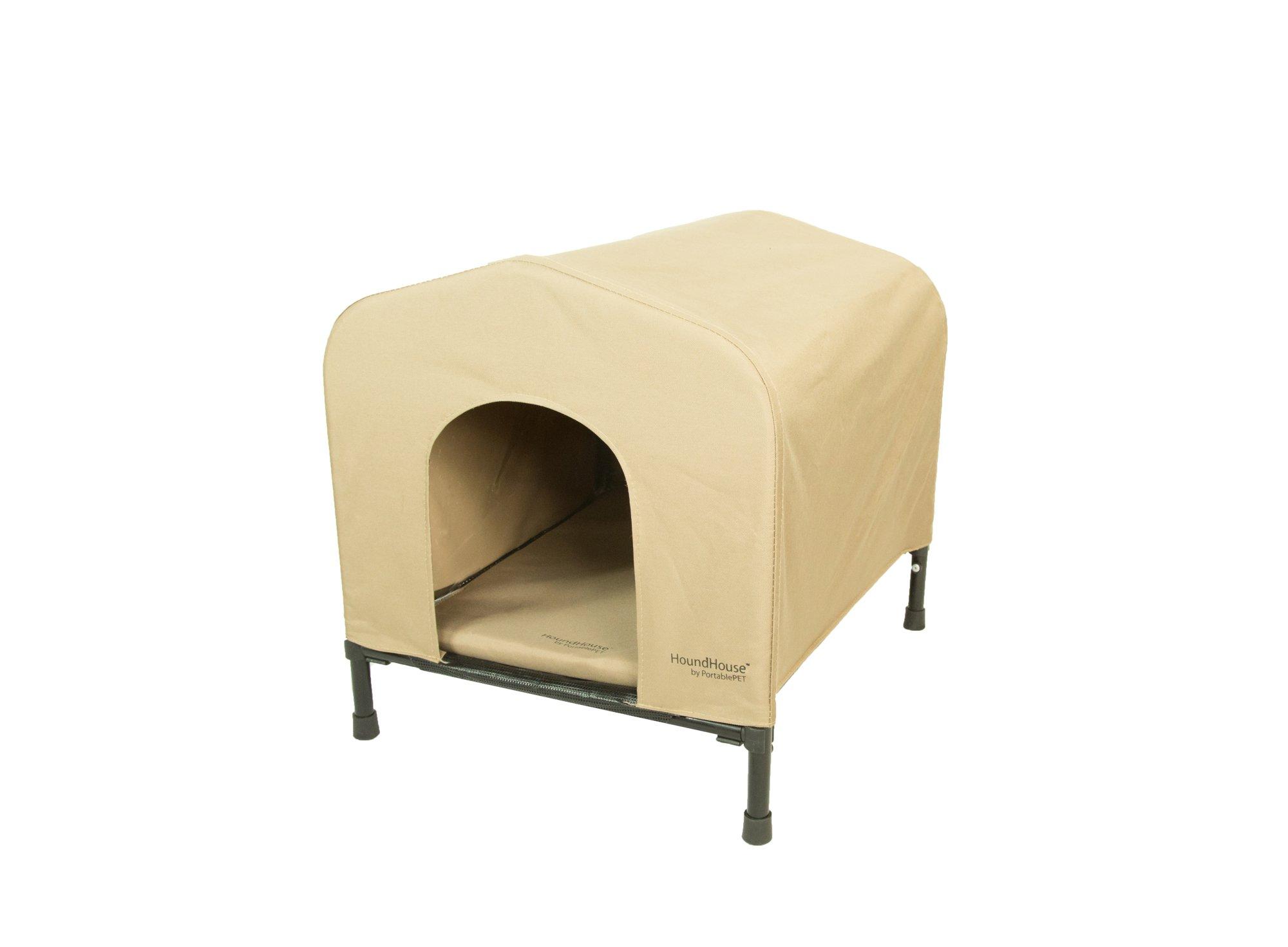 Heininger 3095 PortablePET Medium Khaki HoundHouse Kennel and Shelter