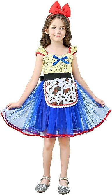 OBEEII Disfraz de Jessie para niña, Toy Story, 4 niños pequeños ...
