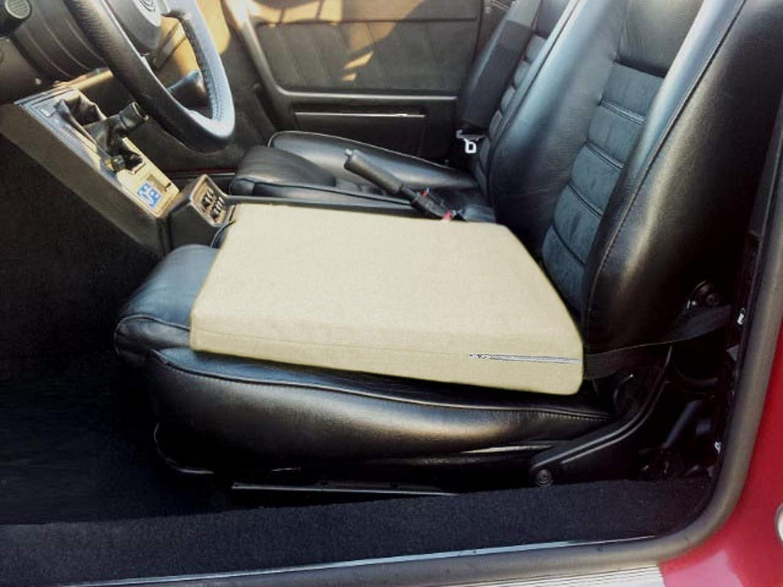CUSCINO A CUNEO -Blu- Rialzo per Sedile Auto Correttore Postura Schiena per Macchina Cuneiforme Ergonomico Ortopedico Supporto Lombare
