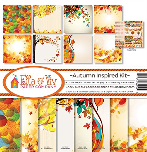 - Ella & Viv by Reminisce Autumn Inspired Scrapbook Collection Kit