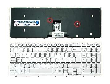 Teclado ESPAÑOL Latino para PORTATIL Sony VAIO MP-09L26LA-8861 Blanco con Marco: Amazon.es: Electrónica