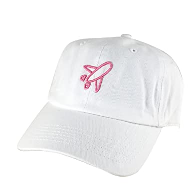 fd2d0bdc091 Airplane Outline Unstructured Baseball Adjustable Hat Dad Cap ...