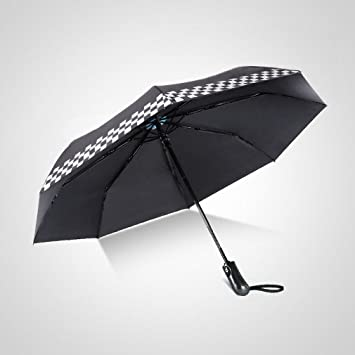 WX Ventana Solar de Vinilo Paraguas Plegable Automático Paraguas Impresión Personalizada Paraguas Grande Plegable Paraguas,