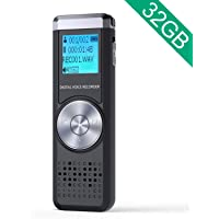 JOOMFEEN 32GB大容量 ボイスレコーダー 録音機 icレコーダー 録音レコーダー 長時間録音 小型軽量 電池切れ自動保存 usb充電式