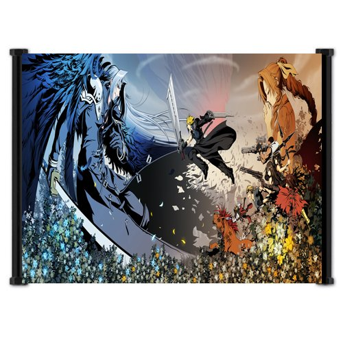 Final Fantasy VII Advent Children Fabric Wall Scroll Poster