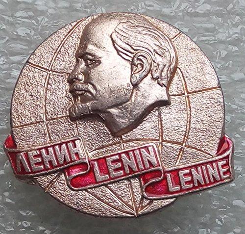 # 3 V I Lenin USSR Soviet Union Russian Communist Bolshevik Historical Political Pin Badge