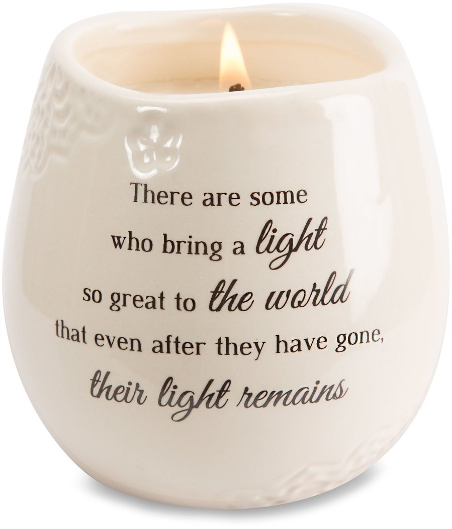 Light Your Way Memorial 19176 in Memory Light Remains Ceramic Soy Wax Candle by Light Your Way Memorial