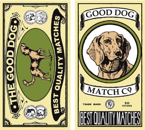 HomArt Large Decorative The Good Dog Matches Decorative Matches