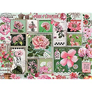 Cobblehill Puzzles 1000 Pc Pink Flowers
