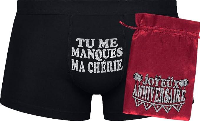 Boxers Pour Hommes Tu Me Manques Ma Chérie Cadeau D