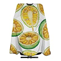 Barber Cape Hair Cutting Capes Watercolor Breadfruit And Jackfruit Professional...