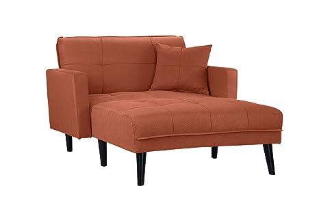 Amazon.com: Mid Century - Sofá cama reclinable de tela de ...