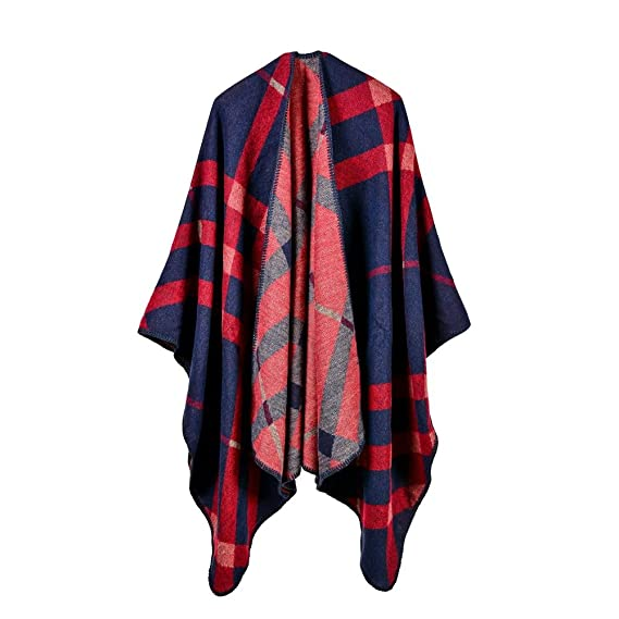 5693e8d761f7 Femme Poncho Tricot Mode Cape Automne Hiver Ouverture Casual écharpe Châle  Chaud Beunique  Amazon.fr  Vêtements et accessoires