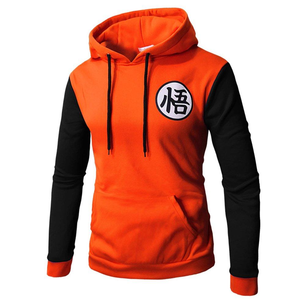 Amazon.com: Mens Hoodie Anime Dragon Ball Z Goku Symbol Hoodies Sweatshirt Costumes: Clothing