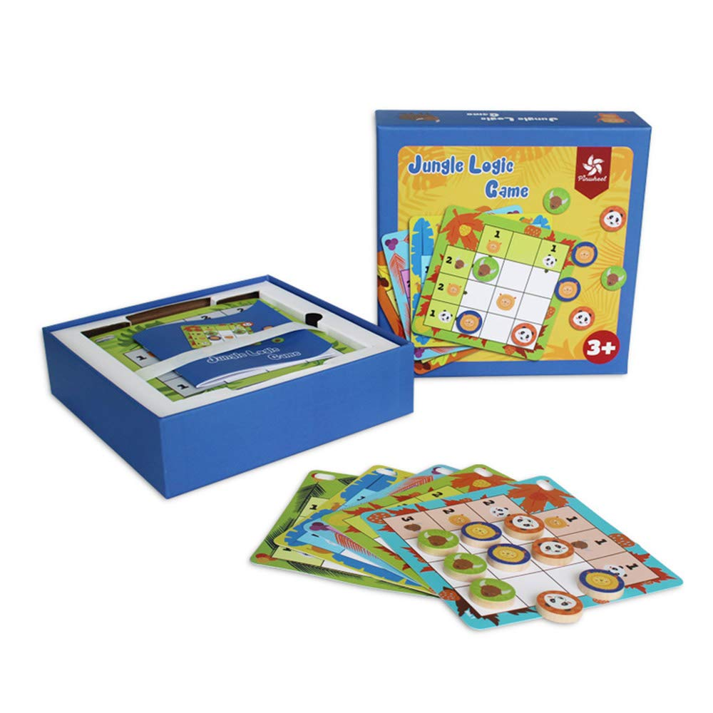 Intellect チェスゲーム おもちゃ 動物ゲーム 子供用 教育的論理モデル 脳の体操 レンガパズル チャレンジカード30枚付き   B07H7BDPLY
