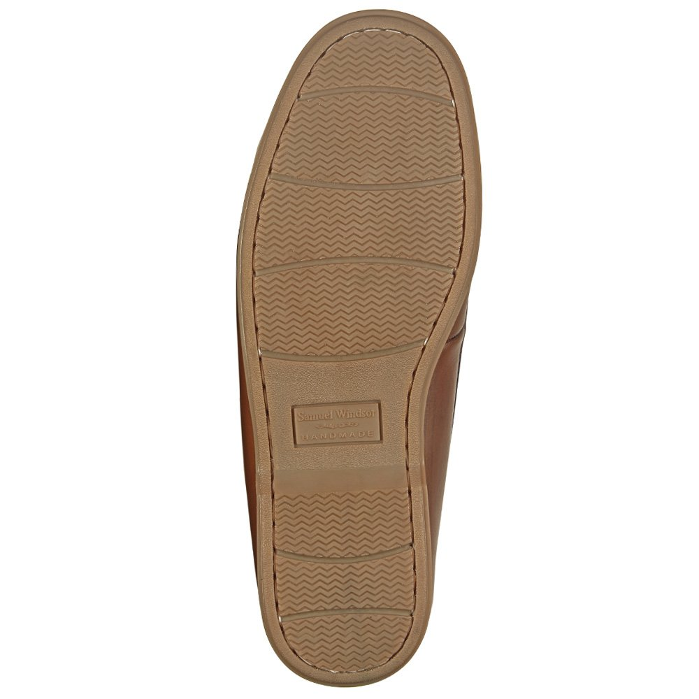 Samuel Windsor Mens Handmade Leather Slip-on and Lace-up Deck Shoes with Blake Stitch