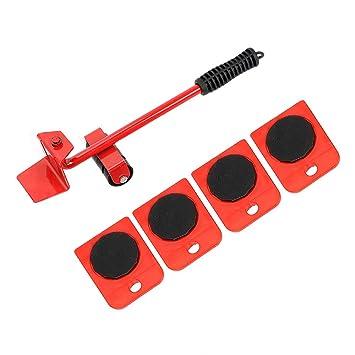 Slides Heavy Stuffs - Juego de herramientas de mano para mover muebles, 4 ruedas y 1 barra: Amazon.es: Bricolaje y herramientas