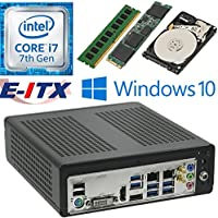 E-ITX ITX350 Asrock H270M-ITX-AC Intel Core i7-7700 (Kaby Lake) Mini-ITX System , 4GB DDR4, 960GB M.2 SSD, 1TB HDD, WiFi, Bluetooth, Window 10 Pro Installed & Configured by E-ITX