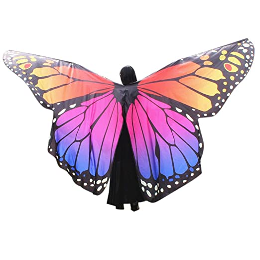 963c1ff2e60dd Amazon.com: Halloween Party Prop Soft Fabric Butterfly Wings Shawl ...