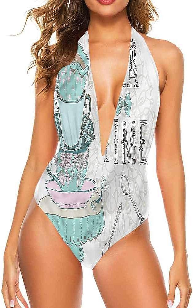 Adorise Maillot de bain une pièce pour femme Style vintage Multi 14
