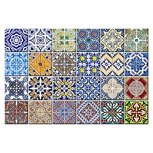 Superb Tile Stickers 24 PC Set Authentic Traditional Talavera Tiles Stickers  Bathroom U0026 Kitchen Tile Decals Easy To Apply Just Peel U0026 Stick Home Decor  6x6 Inch ...
