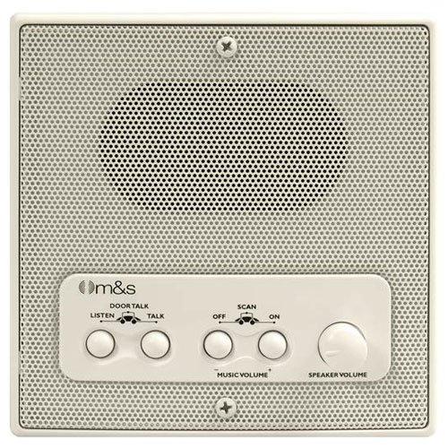Intercom System Master (M&S Systems DMC Intercom Patio Station, Remote Scan, Master Volume, 4-Wire Retrofit, Almond (DMC4RWA))