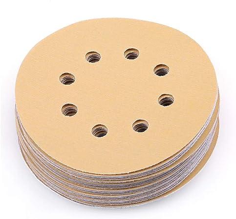 """5/"""" Hook Loop Pads Sanding Disc 600 Grit Orbital Sandpaper Sander 100 Pack"""