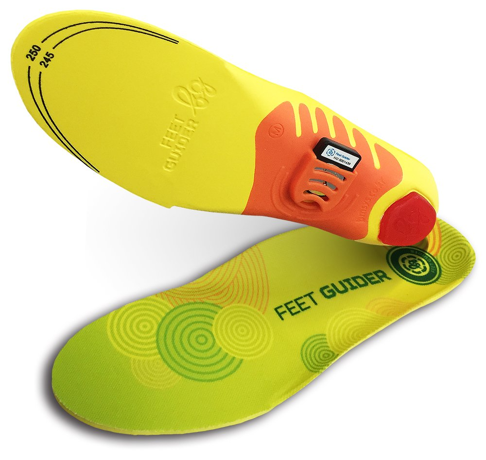 BIBAL Feet Guider Body Balance Check Health Care Fitness Tracker Insole Bluetooth XL : 9.5~11'' Lime, Yellow, Red