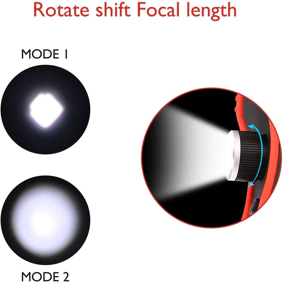 Home Using and Emergency Olymbros LED Work Light Replaceble Battery with Magnetic Base 360/°Rotate and 2 Lighting Modes Ultra Bright COB Flashlight Inspection Lamp for Car Repair