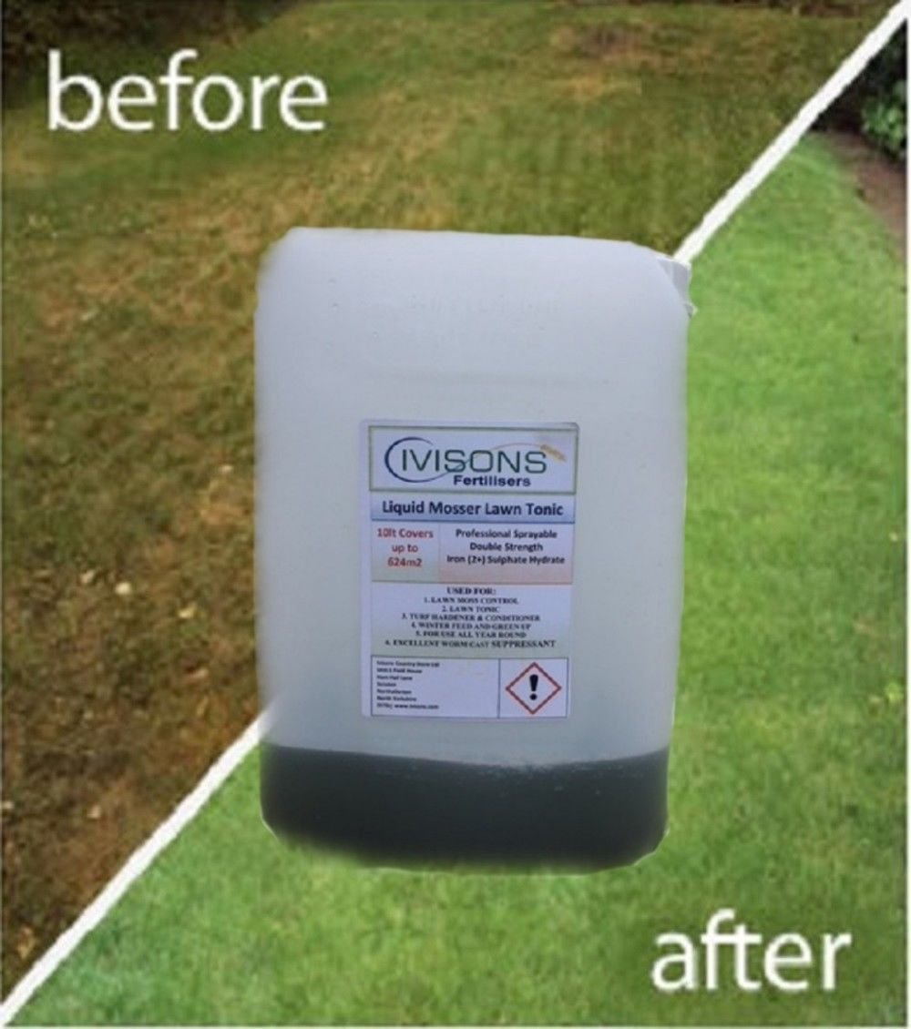 10LT OR 20LT IVISONS LIQUID IRON LAWN TONIC DOUBLE STRENGTH MOSS KILLER SULPHATE HYDRATE (10LT)