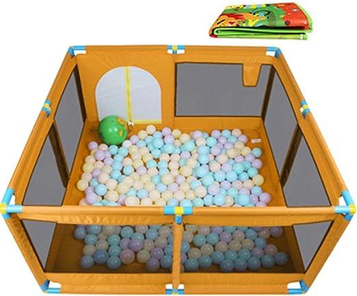 WY_94 Gran Bebé Portátil para Niños Parque Infantil con Bolas Y Alfombrilla, Niñas Bebé Casa Play Jardín Valla Protectora De Seguridad para Interior Al Aire Libre, 8 Paneles (Color : Orange): Amazon.es: