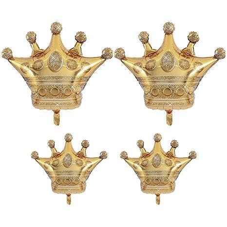 Amazon.com: 4 globos de lámina de corona, 2 grandes y 2 ...