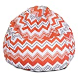 Majestic Home Goods Zazzle Bean Bag, Small, Orange