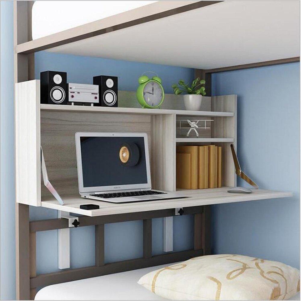 Farbe : Holz Desk Xiaolin Universit/ät Schlafsaal Computer Schreibtisch H/öhenverstellbar Bett Schreibtisch H/ängend Faul Tisch Einfach Lernen Kleine Tabelle Optional Farbe