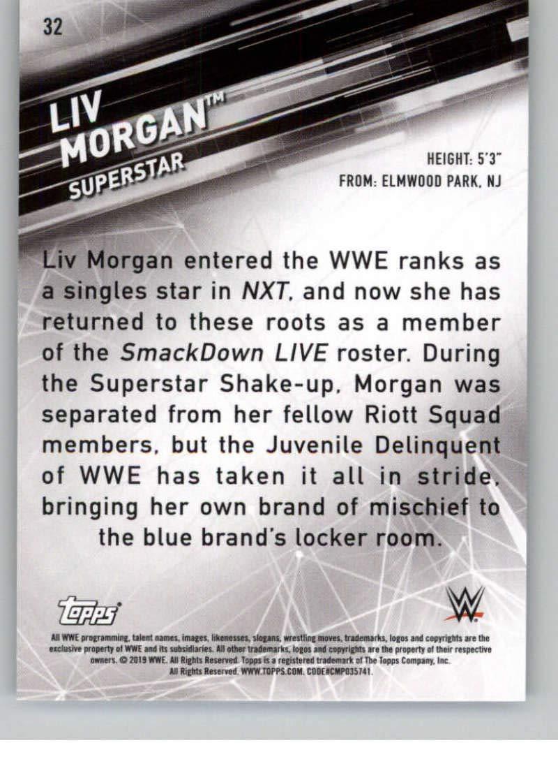 2019 Topps WWE Smackdown Live #32 Liv Morgan Wrestling Trading Card