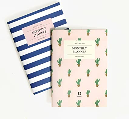 amazon com mini monthly planner set of 2 pocket size office