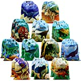 24 Pieces Dinosaur-Party-Supplies-Favors-Bags for Boys Girls Birthday Ideas Jurassic World Party Theme Gift Goodie Bag Drawstring Pouch