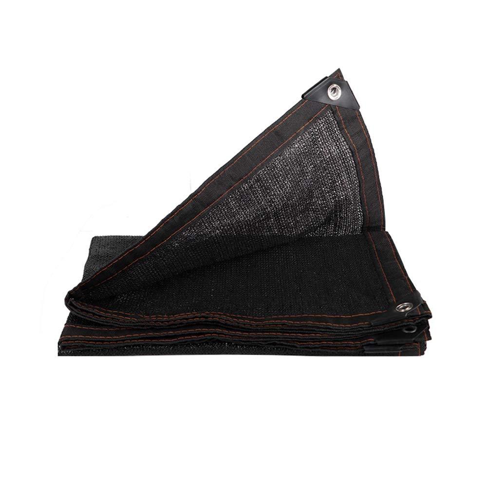 FEIFEI グロメット付き日除けテーピングエッジサンネットサンメッシュシェード80%日焼け止めシェードセイルUV耐性ネット用植物カバー (色 : ブラック, サイズ さいず : 5×10m) 5×10m ブラック B07Q98JLHX