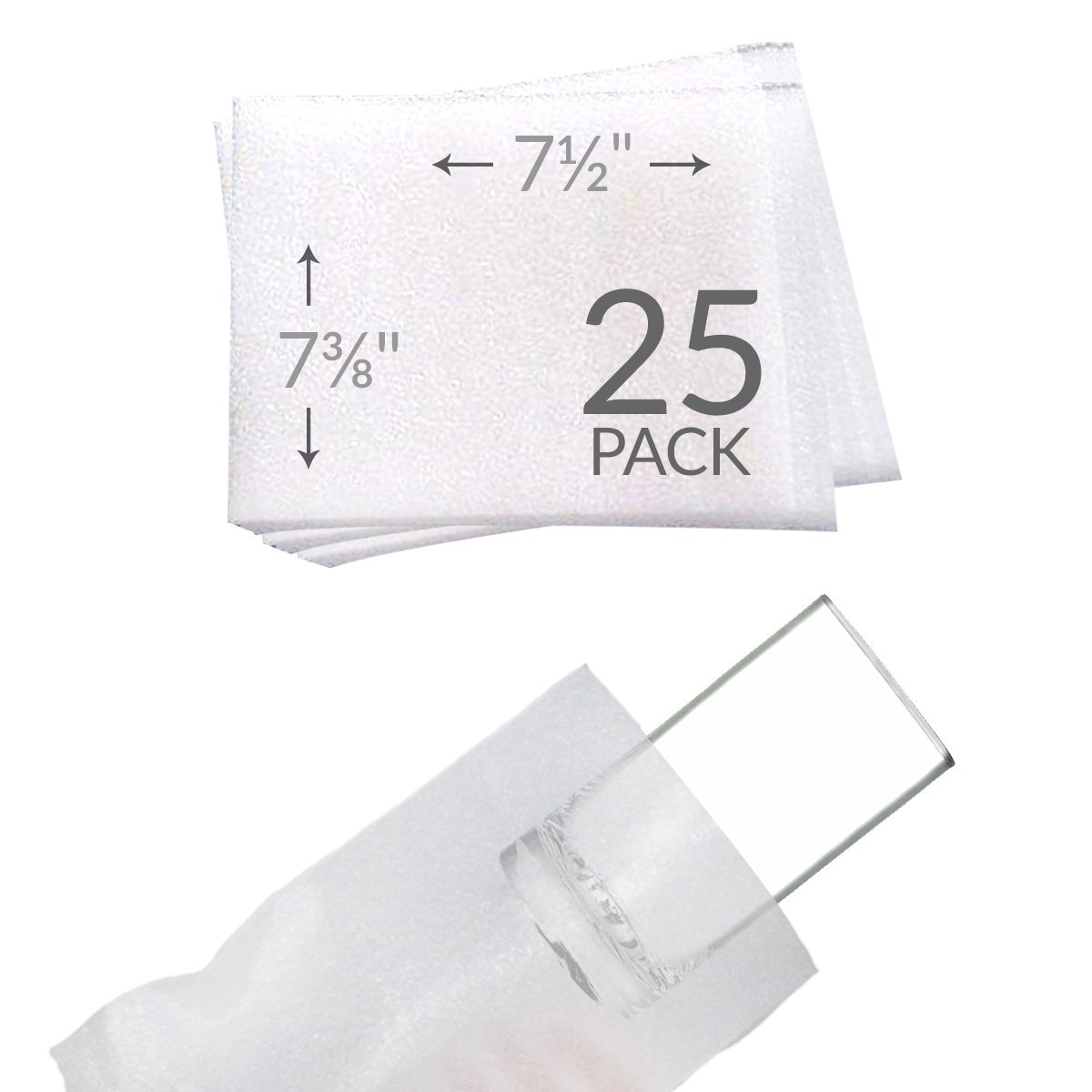 """UBOXES 7-3/8""""x7-1/2"""" Foam Pouches for Cups"""