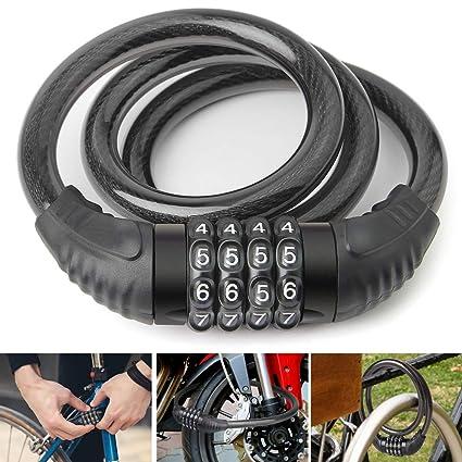 Bike Cable Lock >> Amazon Com Lineway Bike Lock Cable 2 6 Feet Bike Lock Self