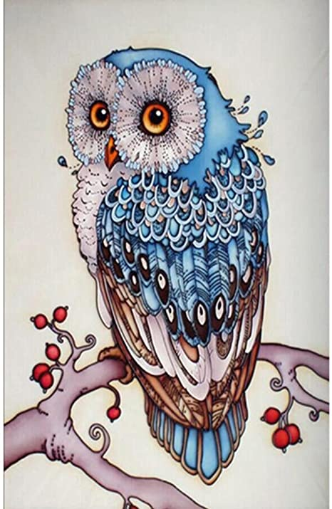Owl Bird Full Drill 5D Diamond Painting DIY Cross Stitch Kits Home Mosaic Art
