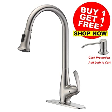 Lazada Best Brass Modern Pull Down Kitchen Faucet With Deck Plate 1