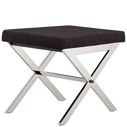 Peachy Amazon Com Home Southport Linen 22 Inch Metal Bench Dark Ibusinesslaw Wood Chair Design Ideas Ibusinesslaworg