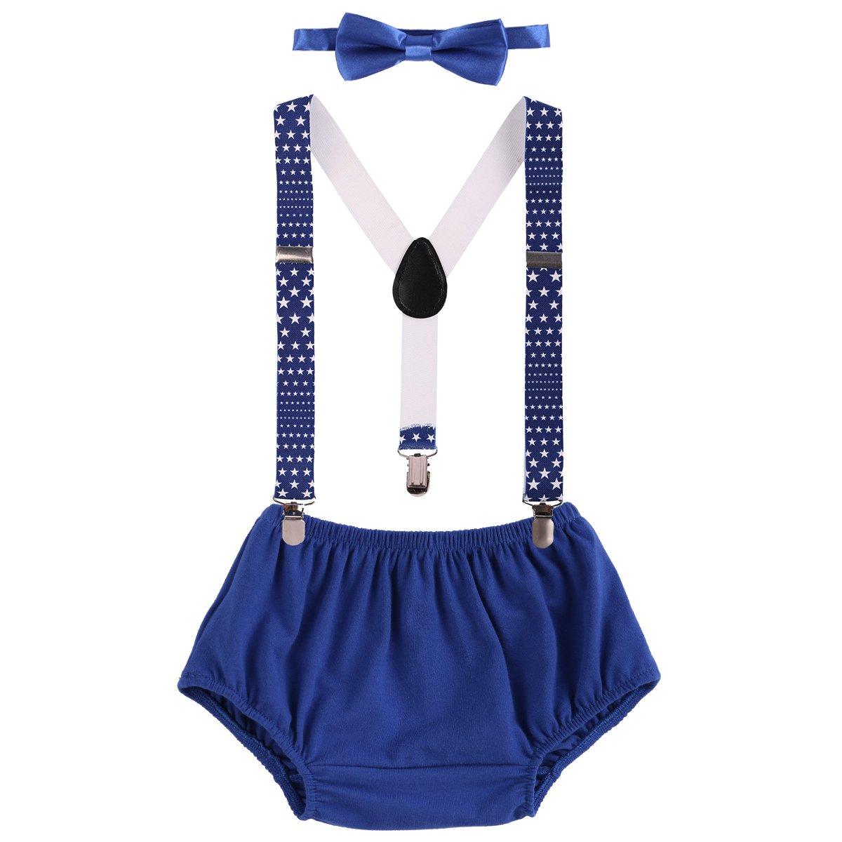 Baby Boys Adjustable Y Back Clip Suspenders Bow Tie Set Kid Pre Tied Bowtie Little Striped