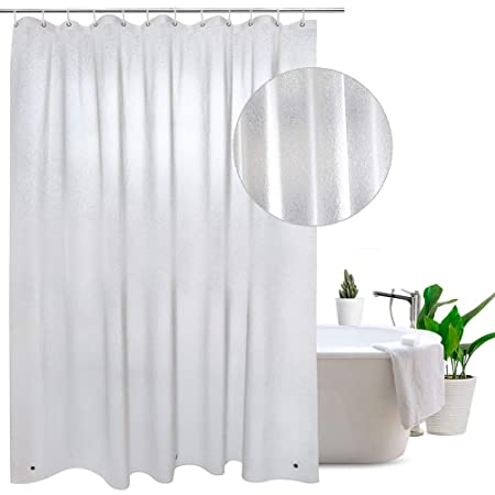 Frosted Shower Curtain Liner 200cm 100 Waterproof Anti Mildew Extra Long With